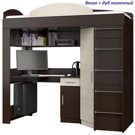"""Кровать-горка """"Чердак"""" со шкафом и столом, фото 2"""