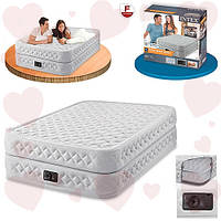 Intex 64464 (152-203-51 см.) Двуспальная надувная кровать + встроенный электронасос 220В
