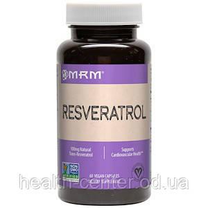 Ресвератрол 100 мг 60 капс антиоксиданты здоровье сердца сосудов омоложение мозга MRM USA