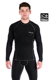 Мужская термофутболка Totalfit TMR33 L Черный с серым