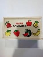 Деревянное домино фрукты