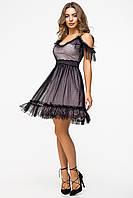 Нарядное платье из фатина и сетки