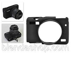Защитный силиконовый чехол для фотоаппаратов CANON EOS M10 - черный
