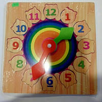Деревянные часы детские