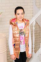 Куртка-жилетка демисезонная для девочки, фото 1