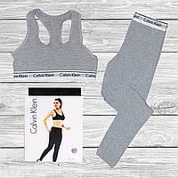 Женский набор Calvin Klein, леггинсы + топ
