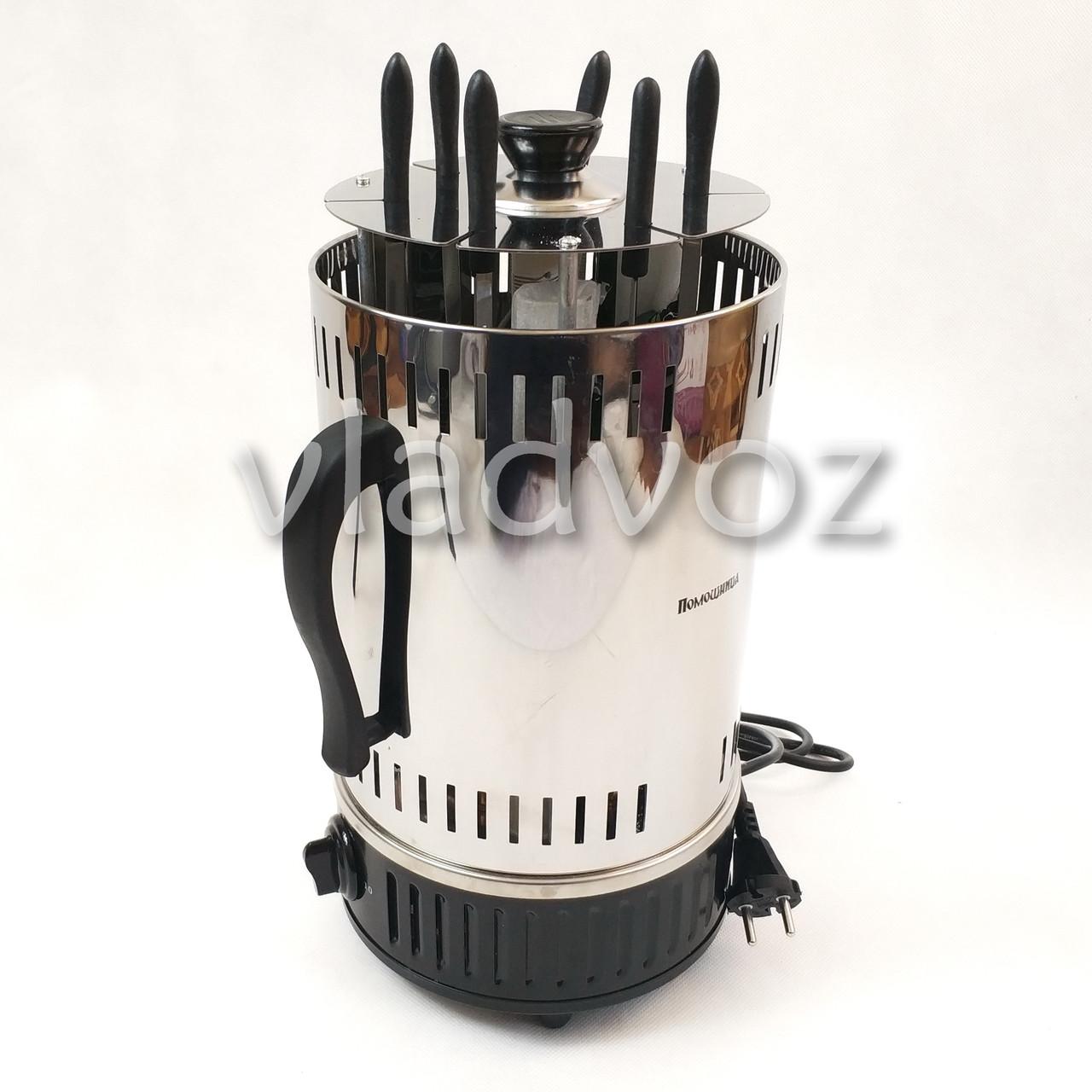 Электрошашлычница Помощница шашлычница шашлык 6 шампуров с таймером