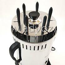 Электрошашлычница Помощница шашлычница шашлык 6 шампуров с таймером, фото 3