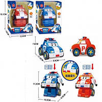 Трансформер Робокар Поли M108 Поли и Рой, в коробке 12,5*10*15см