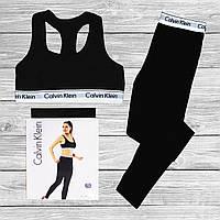 Женский спортивный комплект Calvin Klein, топ + леггинсы