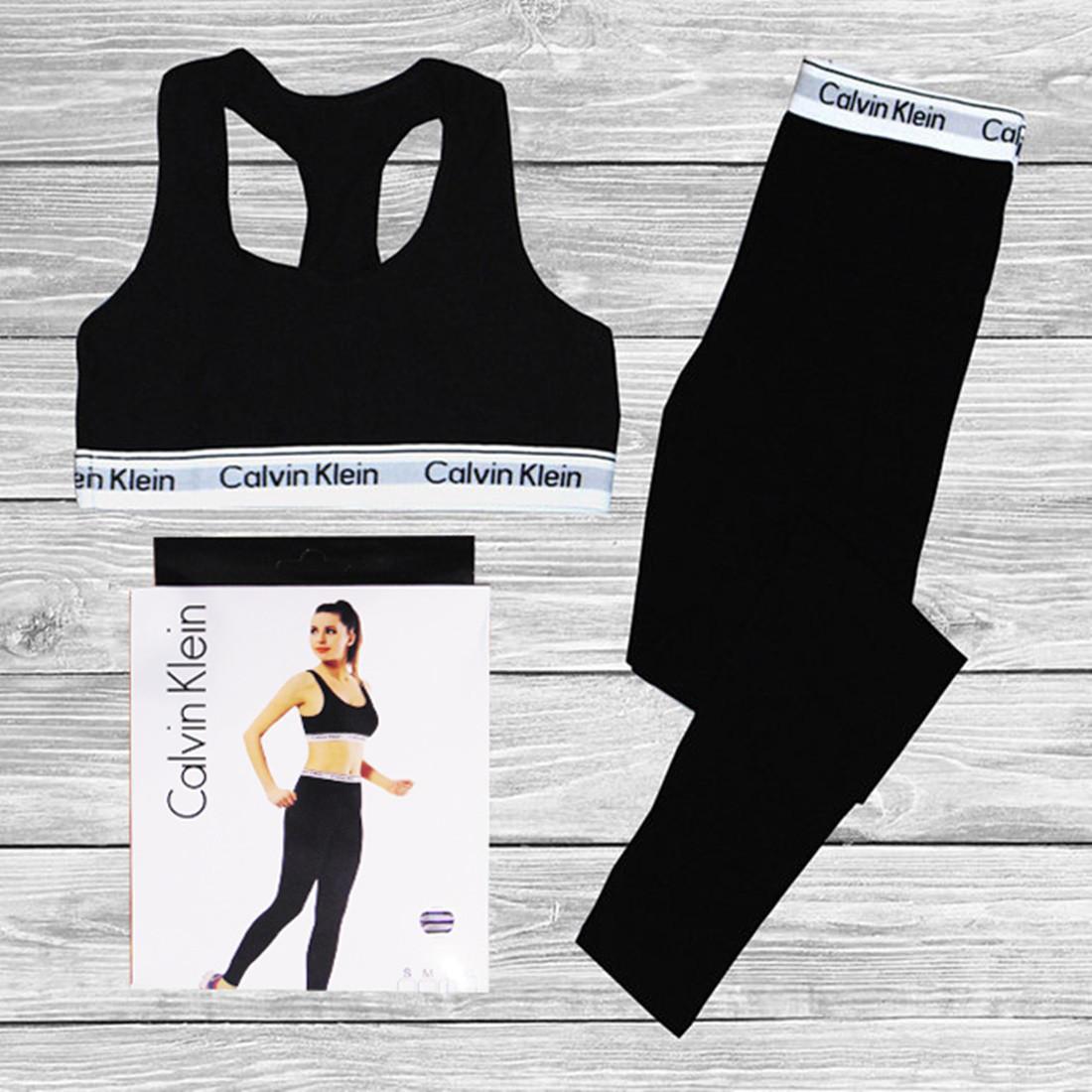c716641fa3ab Женский спортивный комплект Calvin Klein, топ + леггинсы. комплекты нижнего  белья ...