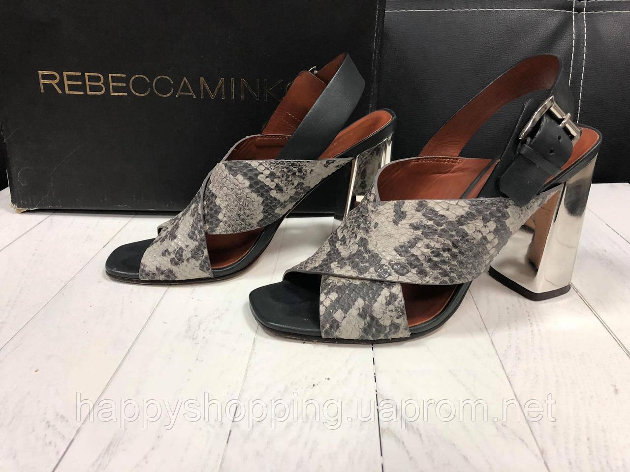 Женские кожаные босоножки на каблуке Rebecca Minkoff