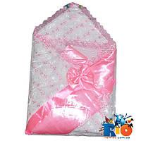 Детский конверт на выписку с бантиком для новорожденных, 1 ед. в упаковке