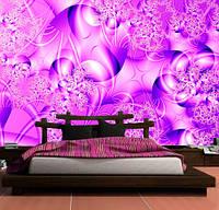 """3D фотообои """"Фиолетовый узор"""""""