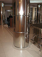Облицовка колонн нержавеющей сталью   Декорирование колонны металлом в квартире и на улице   Цена изготовителя