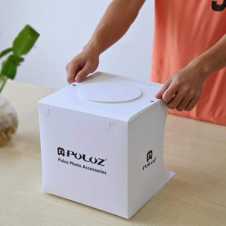 Світловий лайткуб (photobox) Puluz PU5022 з LED підсвічуванням для предметної макрозйомки 24*23*22 см (SUN0116) - фото 6