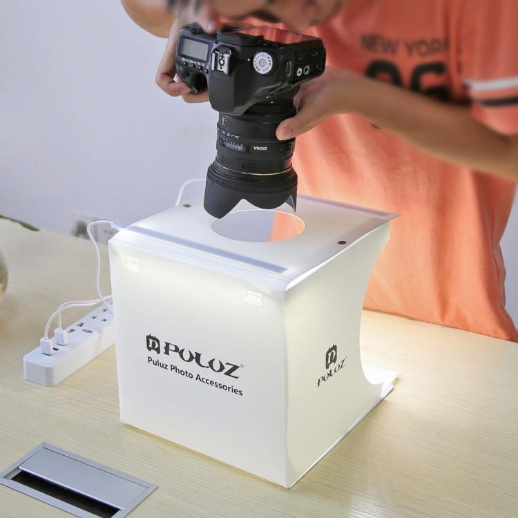Світловий лайткуб (photobox) Puluz PU5022 з LED підсвічуванням для предметної макрозйомки 24*23*22 см (SUN0116) - фото 5