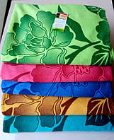 Полотенце банное с цветами