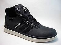 Кожанные подростковые ботинки р.37,38 черные