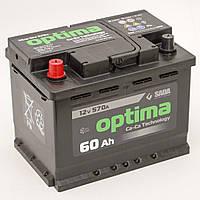 Автомобильный аккумулятор Sada Optima 6СТ-60 (+/-) 12В 60Ач 570А