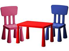 Детские стол и стулья IKEA MAMMUT
