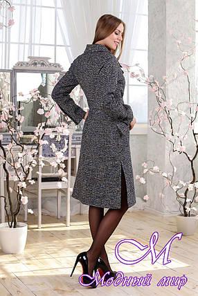 Удлиненное демисезонное женское пальто (р. 44-54) арт. 983 Твид Тон 1, фото 2