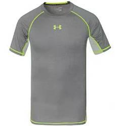 Футболка Under Armour HeatGear Compression Short Sleeve 2273L L Серая (2273L)