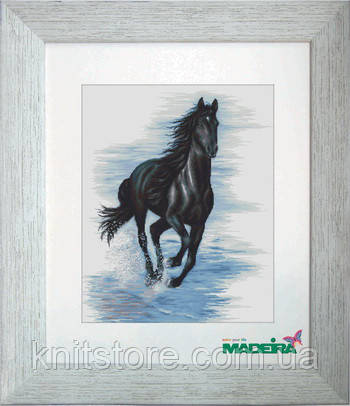 """Набор для вышивания крестом """"Черный конь"""""""