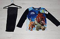 Теплая пижама для мальчиков,  велсофт, 4-10лет