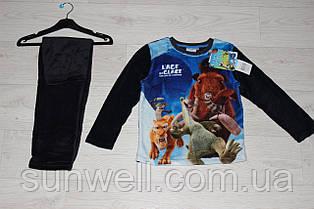 Тепла піжама для хлопчиків, велсофт, 4-8 років