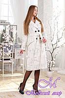 Женское удлиненное весеннее пальто (р. 44-54) арт. 983 Cardenia Тон 1