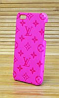 Кожаный чехол на iPhone 5 / 5s LOUIS VUITTON розовый