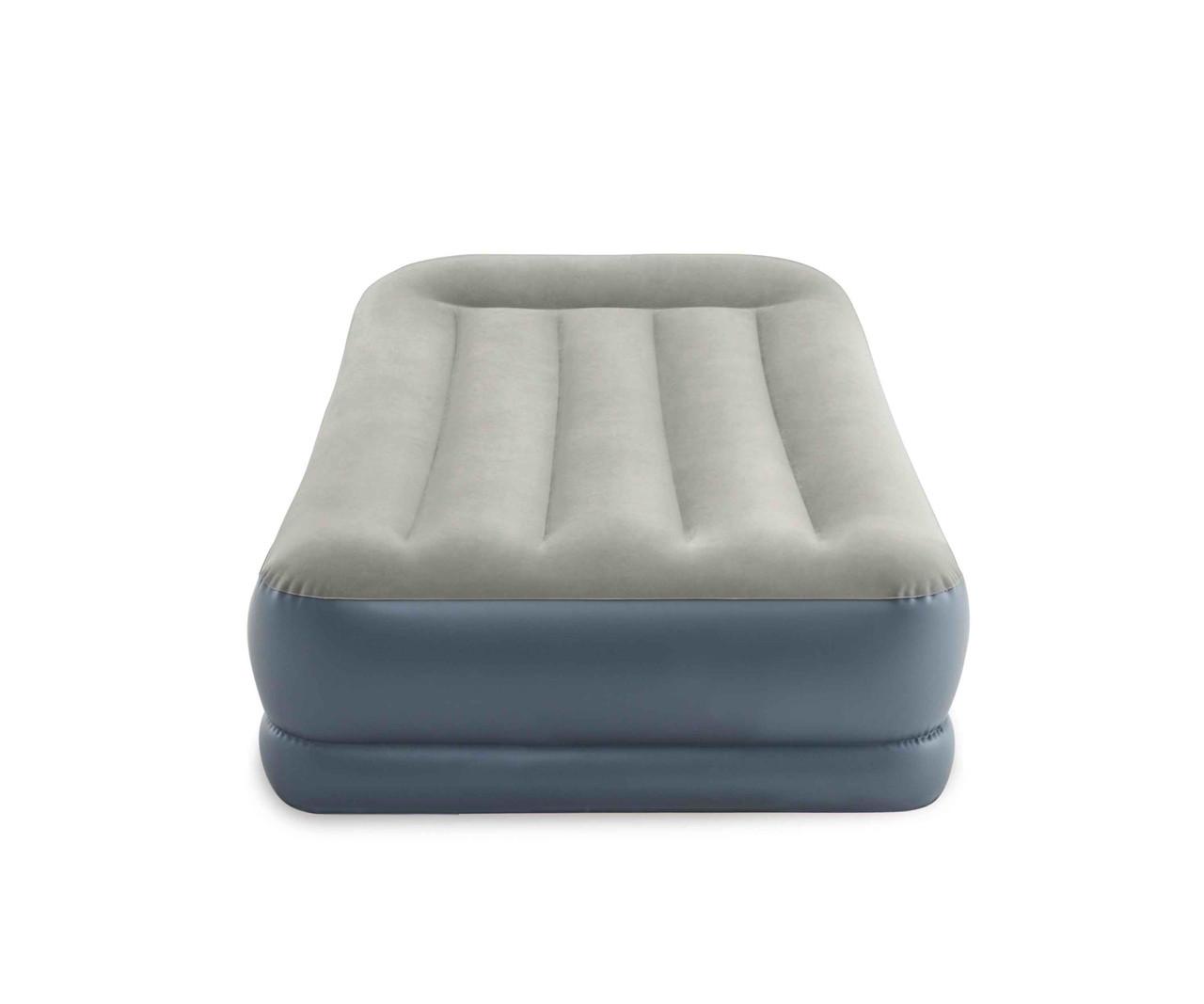 Односпальная надувная кровать Intex + встроенный электронасос 220V 99x191x30 см (64116)