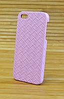 Кожаный чехол на Айфон 5 / 5s TWIST розовый