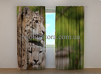 """Фото штора """"Два Леопарда"""" 250 х 260 см"""