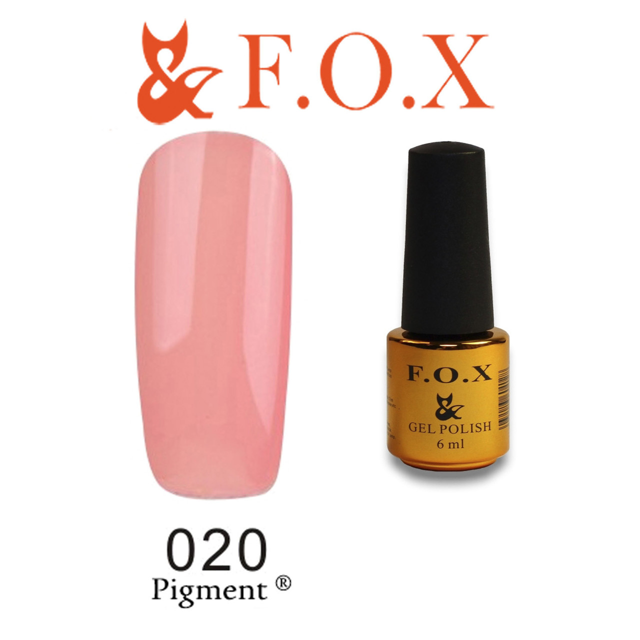 Гель-лак FOX № 020 ( бежевый), 6 мл