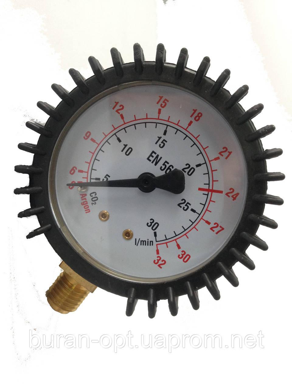 Манометр расходомер CO2/AR 0-32 L/min M12*1,5