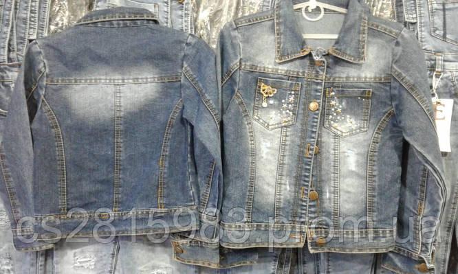 Детская джинсовая куртка на девочку