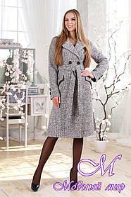 Женское удлиненное весеннее пальто большого размера (р. 44-54) арт. 983 Тон 3