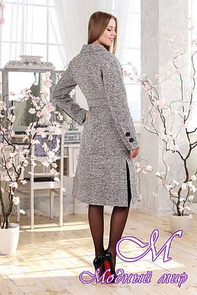 Женское удлиненное весеннее пальто большого размера (р. 44-54) арт. 983 Тон 3, фото 2