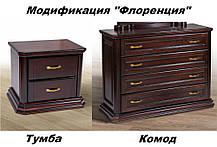 Кровать Флоренция каштан 1,8 (Микс-Мебель ТМ), фото 3