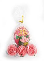 Сахарные фигурки Пасхальное яйцо красное с розами