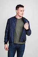 Мужская короткая куртка стеганная ромб.