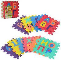 Детский развивающие Коврик пазлы Украинский алфавит 2609 EVA   10  деталей по 31.5х31.5х10 см