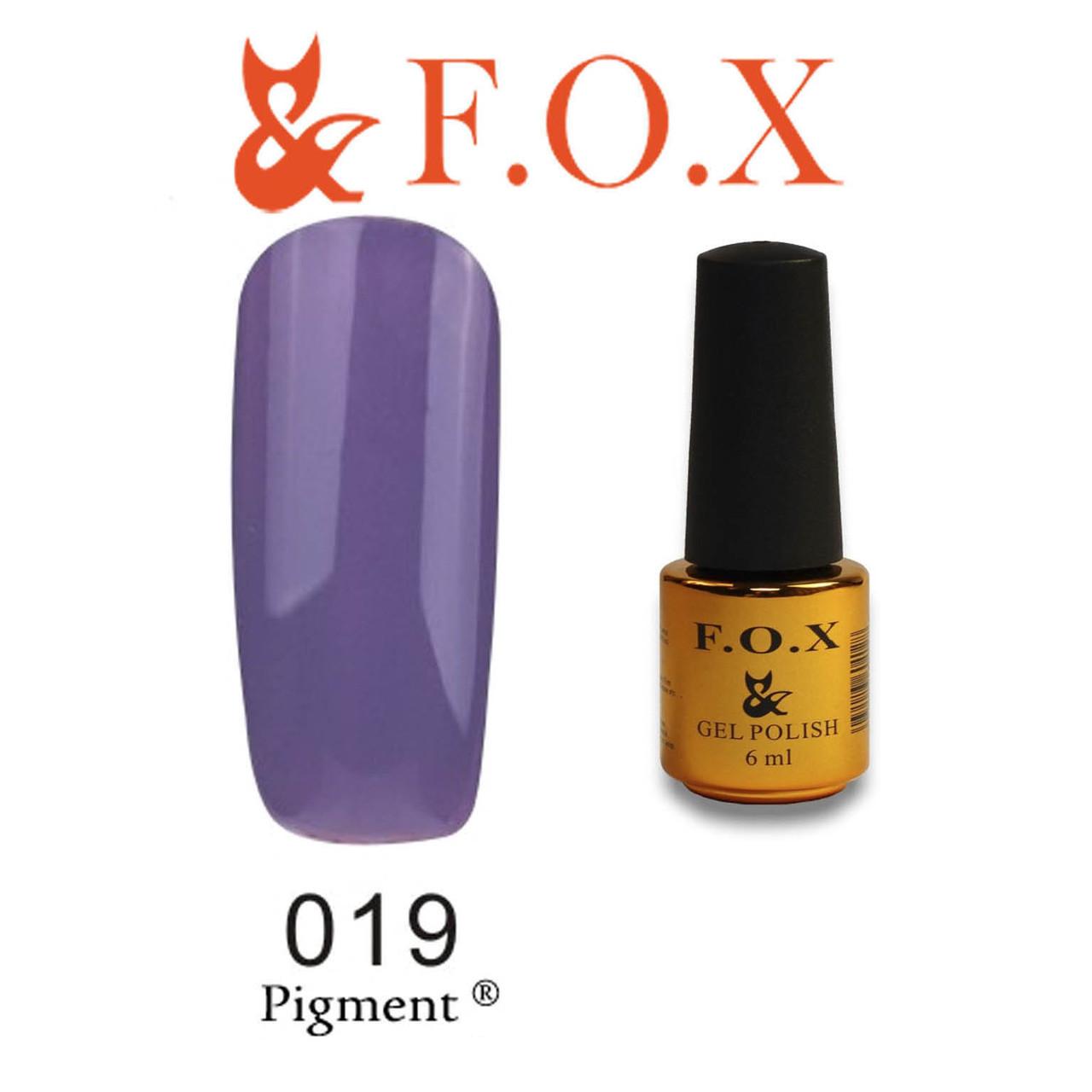 Гель-лак FOX № 019 (фиолетовый), 6 мл