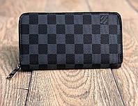 Клатч Louis Vuitton D1846 черно-серый