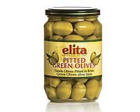 """Греческие маслины зеленые без косточки  """"Elita"""" стекло 0,72 кг"""