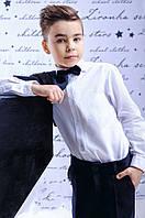 Классическая белая рубашка для мальчика; 128, 140, 146 размер