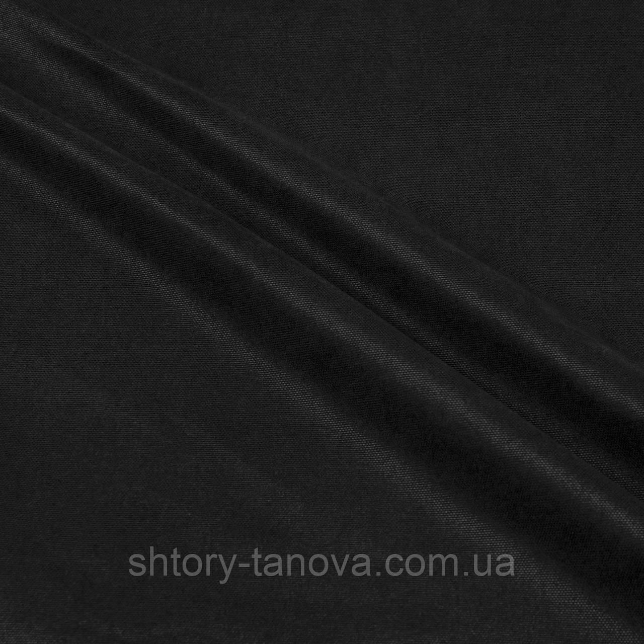 Ткань для штор нубук черный