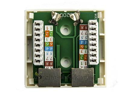 Компьютерные розетки 2 х 8Р8С, фото 2